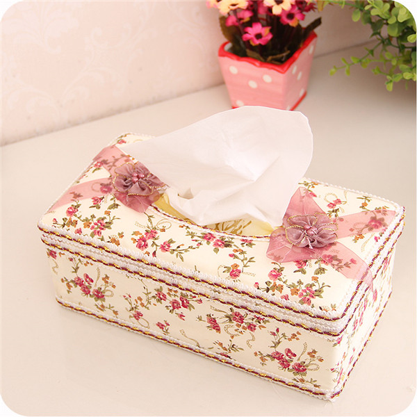 Floral PVC Leather Fabric for Tissue Box Cover
