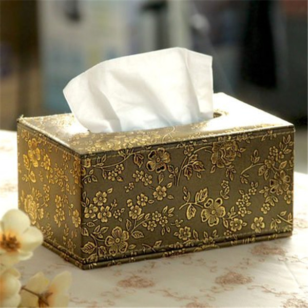 Wholesale Décor Faux Leather Tissue Box Cover