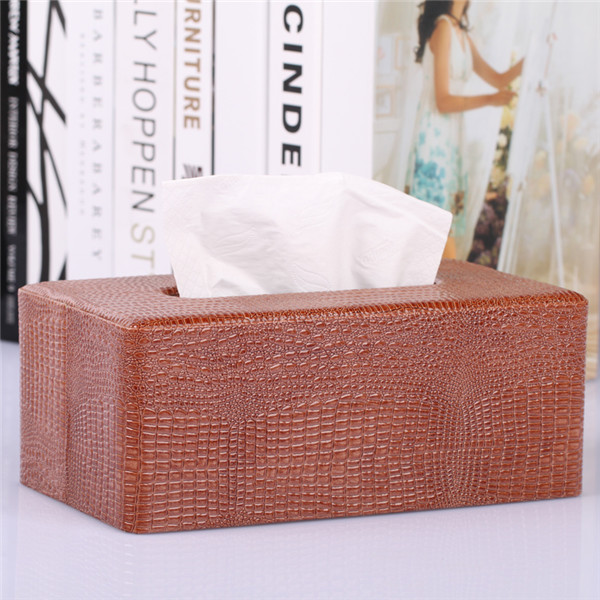 Faux Animal Skin Leather Tissue Box Cover Wholesale