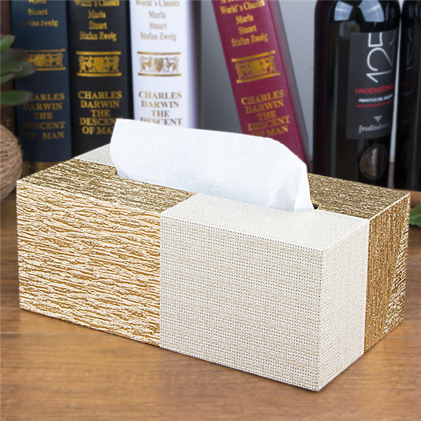 Wholesale PVC Synthetic Tissue Box Cover Leather