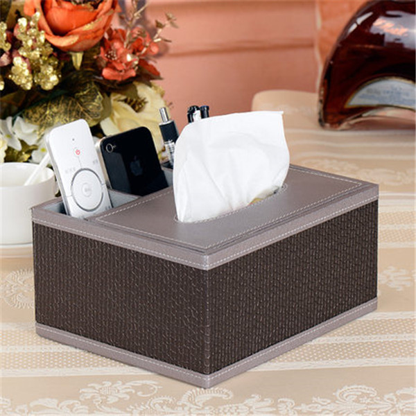 Qualified PVC Leather Tissue Box Decoration Cover