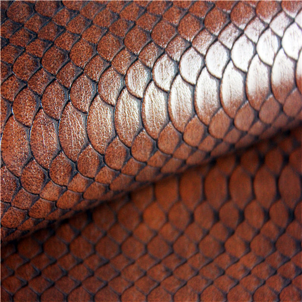 Snakeskin Pattern PU Shoes Cover Leather