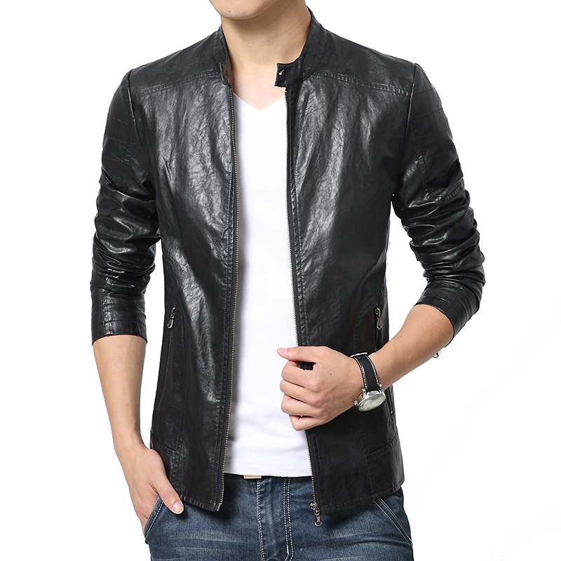 Faux Leather For Men Jacket